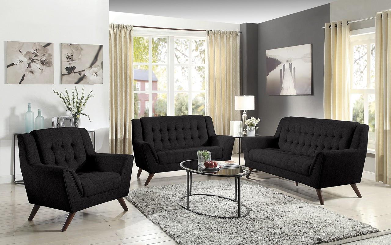 sienna sofa sleeper modern chaise lounge uk coaster natalia 3 piece living room set in black ...