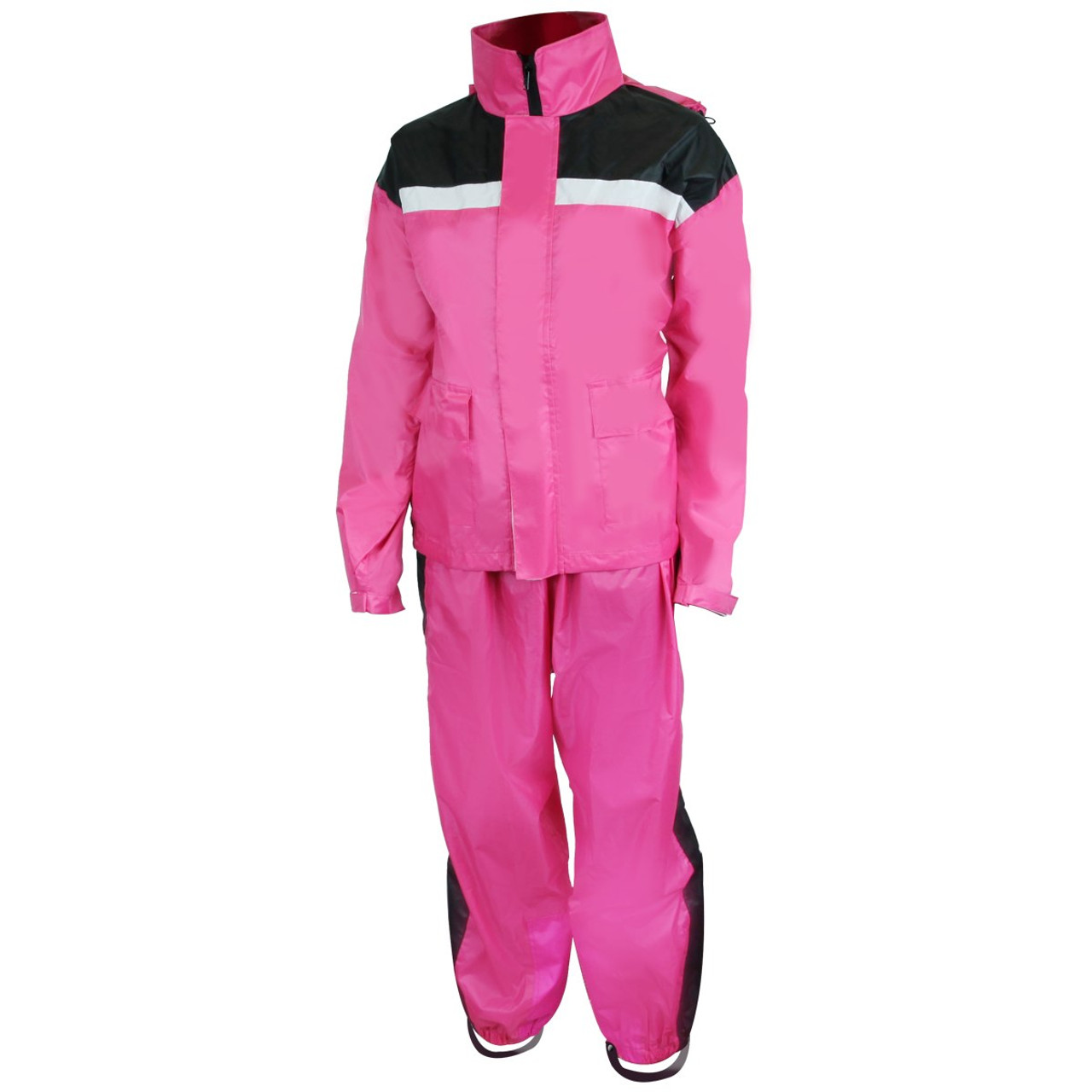 Women' Rs5034 Pink Two Piece Rain Suit - Team Motorcycle