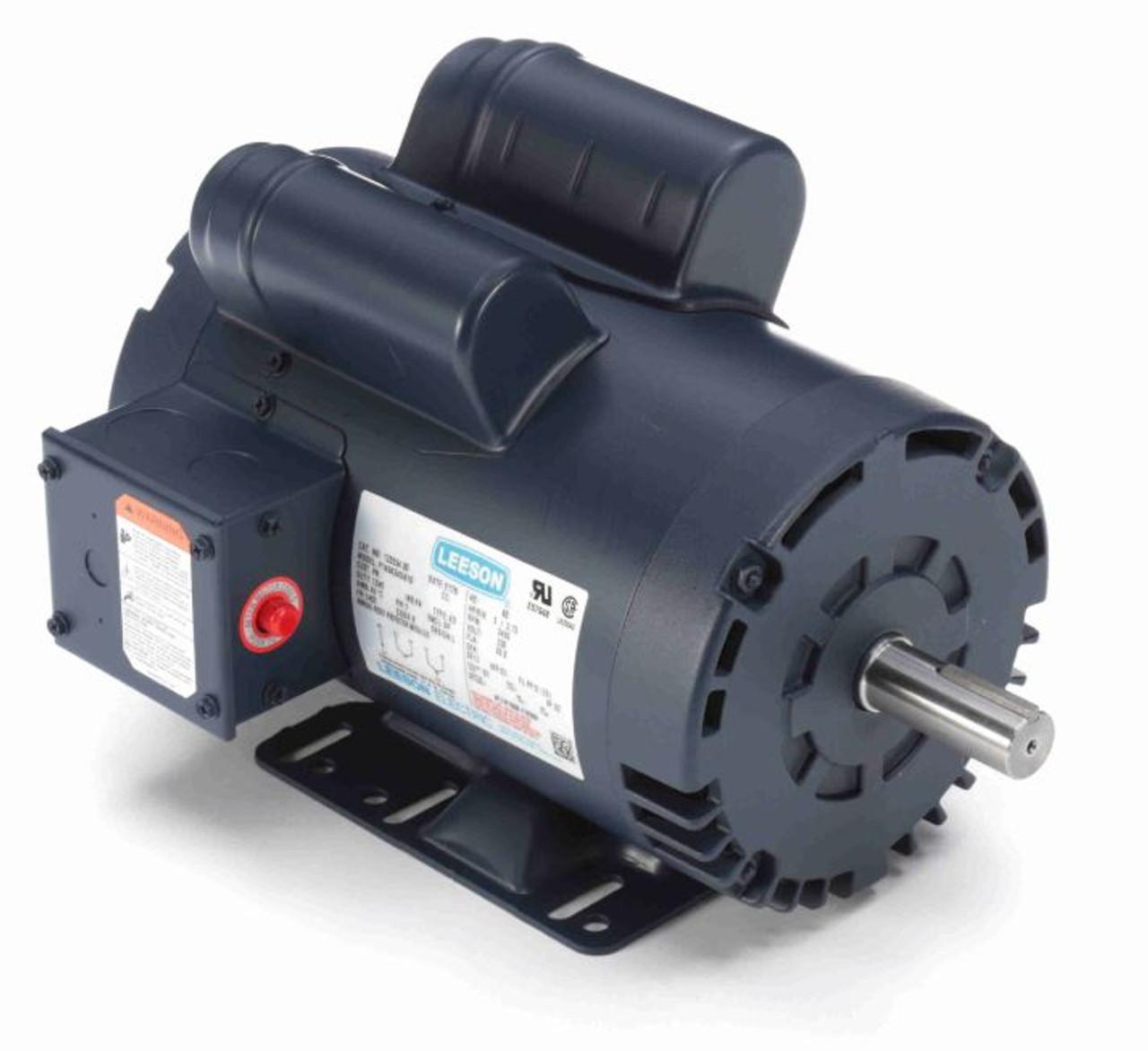 leeson motor capacitor wiring diagram trane series e centravac 5 hp 3450 rpm 145t 230v air compressor # 120554