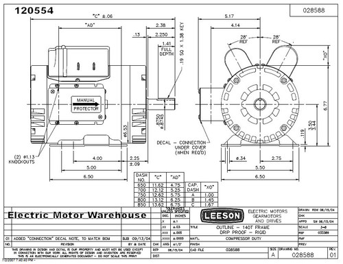 leeson wiring diagram model c6c34nz23a