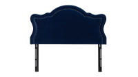 Legacy Upholstered Headboard, Navy Blue (Queen Size