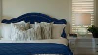 Legacy Upholstered Headboard, Navy Blue (King Size