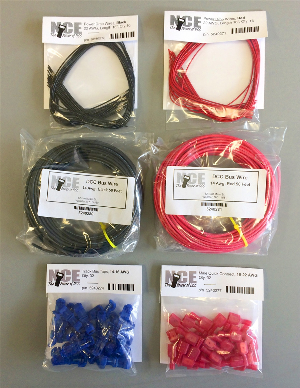 small resolution of nce 524268 dcc main bus wiring kit for typical 50 foot double track mainline