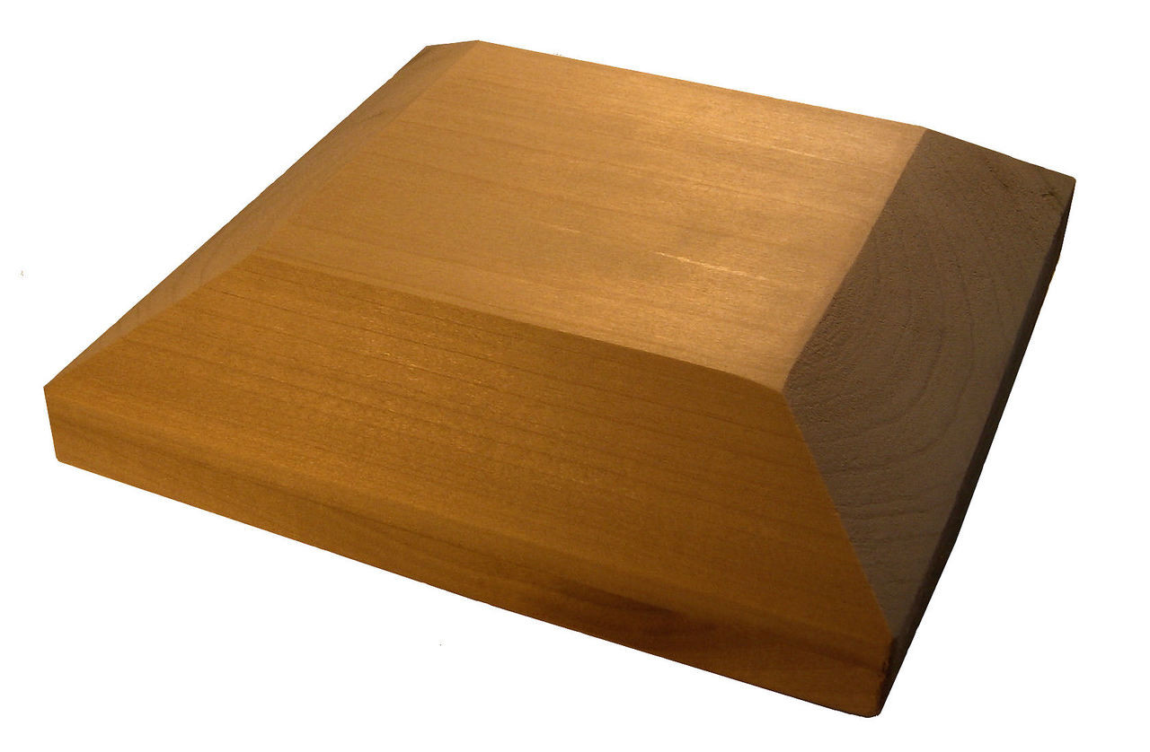 C300 Chamfered Edge Newel Post Cap by Ascension Stair Parts