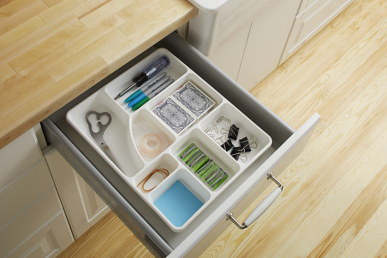 Junk Drawer Organizer In White - Solutions