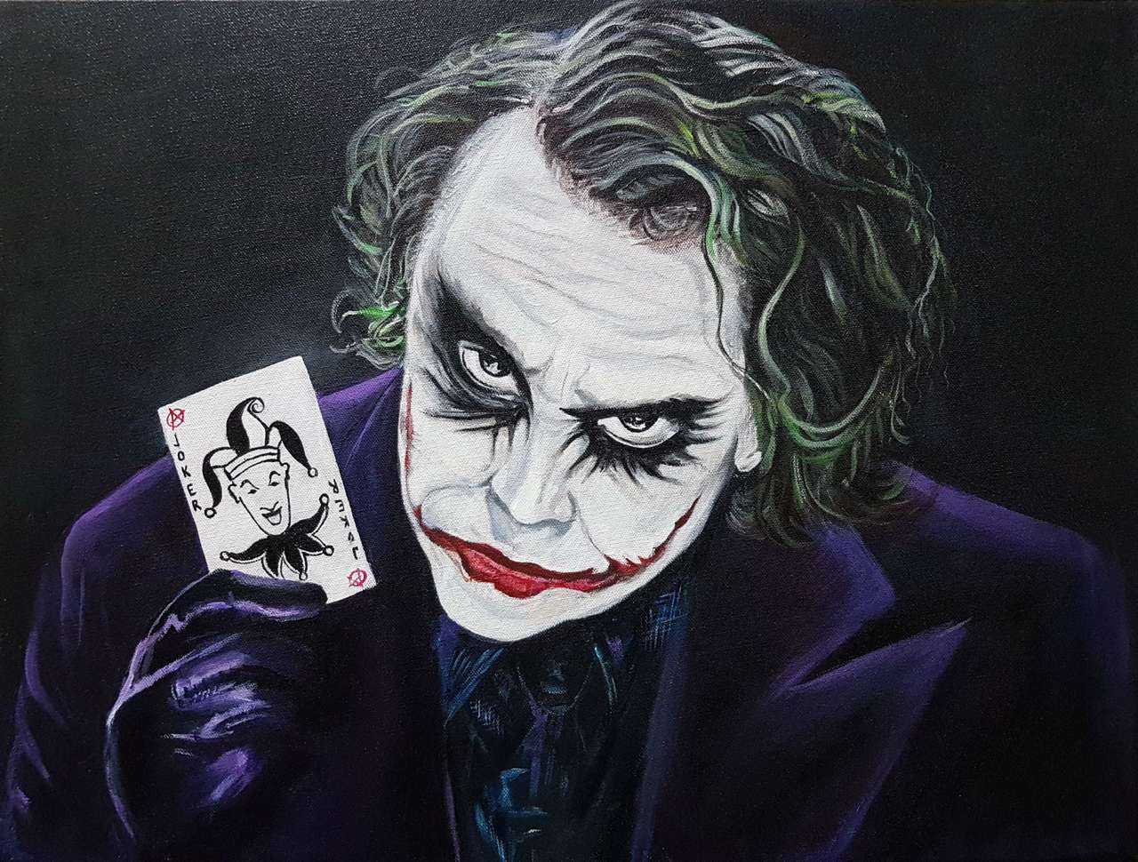 Joker- Dark Knight Handmade Painting Pooja Lalwani. Code Art 3416 23076 - Paintings