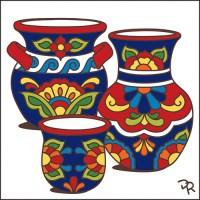 6x6 Tile Talavera Pottery White Decorative Art Tile