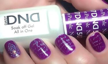 daisy gel polish neon purple 1507