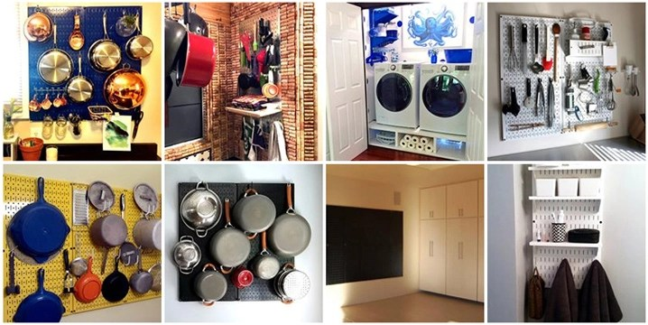 kitchen pegboard center island ideas for laundry room home office wall control and organizers