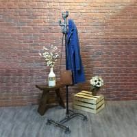 Industrial Pipe Coat Rack - William Roberts Vintage