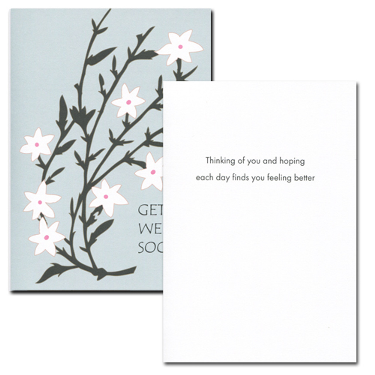 Boxed Get Well Cards Assortment For Business And Health Care
