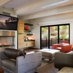 Cozy Modern Living Room With Candle Fireplace D145 203 725
