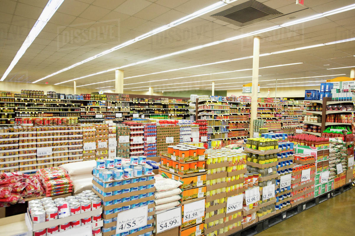 dry goods section of