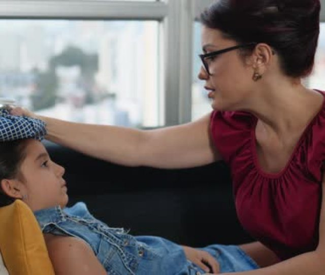 Mother Helping Sick Daughter At Home Royalty Free Stock Video