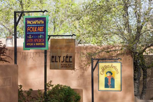 Nm Mexico Santa Fe Canyon Road Legendary