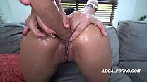 Bokep Big butt porn star Aaliyah Hadid rides 2 massive cocks with her asshole & pink