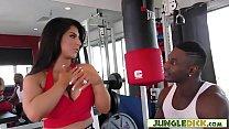 Curvy Anal Slut Fucks Black Guy In The Gym