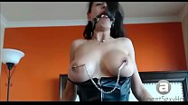 nipple clamps and big tits squirts