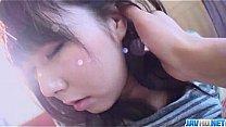 Harsh pussy penetration for Reina Japanese teen