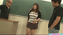 Bokep Plump and busty student fucked by two hung