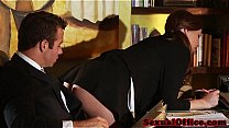 Bokep Flashing redhead secretary seducing her boss