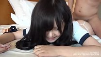 Cute Asian teen squeaking while being fucked in a hotel