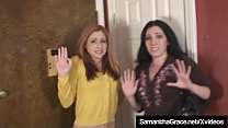 Bokep Sexy Brunette Samantha Grace & redhead Paris Kennedy get bound & gagged by crazy ex boyfriend who they end up escaping from! Full Video & Much More at SamanthaGrace.net!