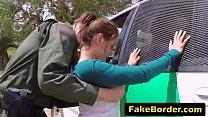Bokep A horny border agent fucks hot young Latina's throat and tight pussy
