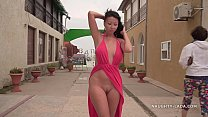 Bokep My new red dress for flashing in public