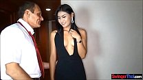 Thai prostitude babe gets picked up in the hotel lobby