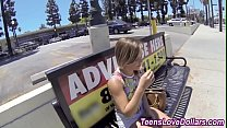 Bokep Busty real teen gets cash