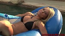 Hot blonde Shawna Lenee in her first porn scene sucking and fucking and swallowing cum