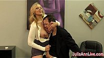 Bokep Milf Julia Ann milks her stepson before his prom date, Julia wants to make sure his balls are empty! Join JuliaAnnLive.com now to see the full video and free member shows!