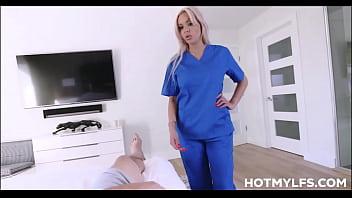 Blonde MILF Stepmom With Big Tits Uses Her Family Nursing Skills On Young Skater Stepson POV