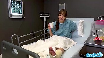Hot Babe Lexi Luna Masturbates to pass the time while in the hospital.