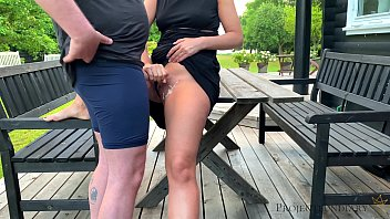 morning outdoor sex before daddies girl goes to school