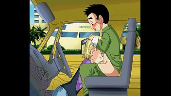 Android 18 giving krillin a blowjob