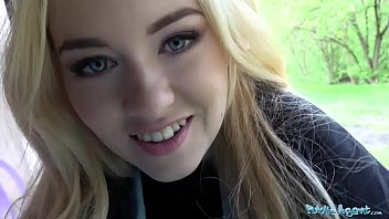 Public Agent Hit blonde student