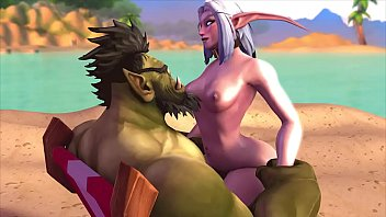 Val Gets Pounded on the Beach
