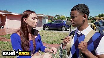 BANGBROS - Hot Girl Next Door, Aidra Fox, Tutors Her Big Dick Neighbor