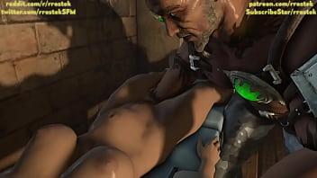 Kano fisting Sonya Hardcore MKX 3D porn