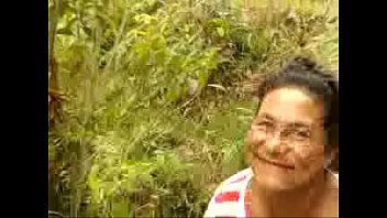Bokep Young guy ducks Granny in Forest