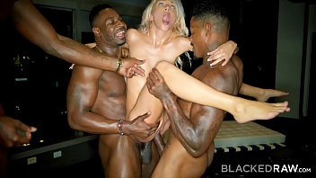 Bokep Seks BLACKEDRAW Kinky Blonde Craves Three Big Black Cocks NOW