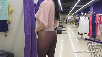 Bokep I tried on sheer clothes in front of others in the store