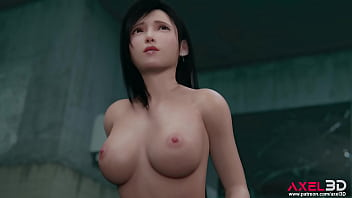 Tifa has sex with a stranger in a public restroom [3D animation]