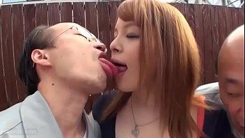 Nina Nishimura lets perverted old japanese men enjoy her body