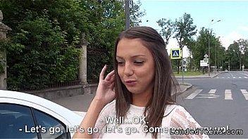 Bokep Beautiful Russian teen anal fucked POV outdoor