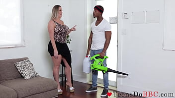 PAWG Mom and Teen Daughter Fuck The Handy Man's BBC