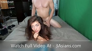 banging asian girl while my girlfriend watching