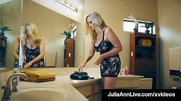 Cock Fucking Cougar Julia Ann, gets a big horny dick in her moist mature muff, slamming her sexy snatch until he cums all over her big tits! Full Video & Julia Live @ JuliaAnnLive.com!